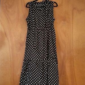 Shein polka dot midi dress